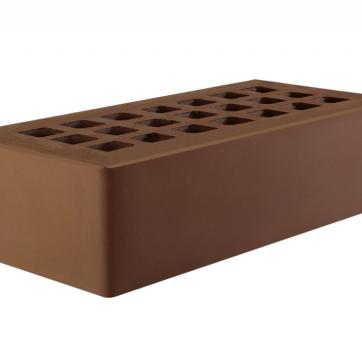 Тёмно-коричневый одинарный 250х120х65 с утолщенной стенкой